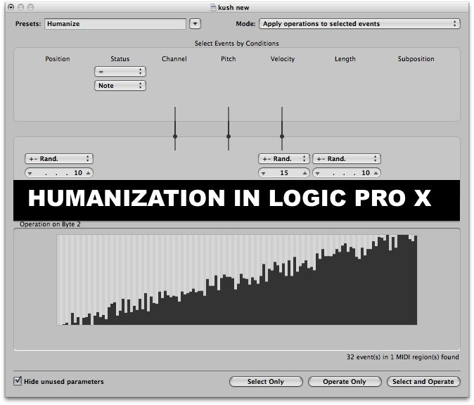 Humanizing Your Productions in Logic Pro X